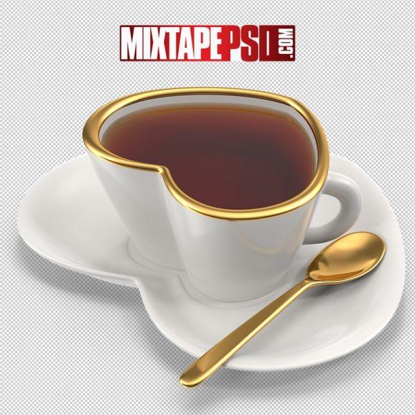 HD Heart Teacup with Tea