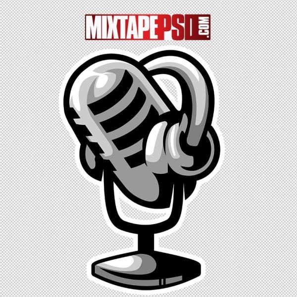 HD Podcast Broadcast Mic Logo 4