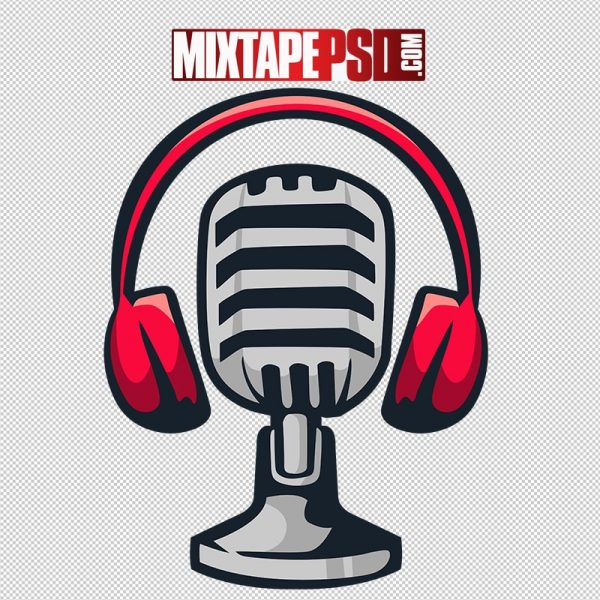 HD Podcast Mic Broadcast Logo