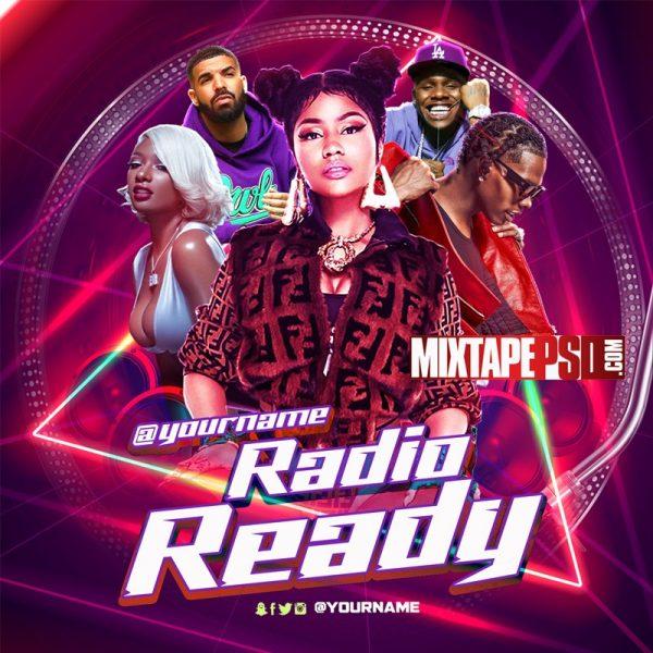 Mixtape Cover Template Radio Ready 3