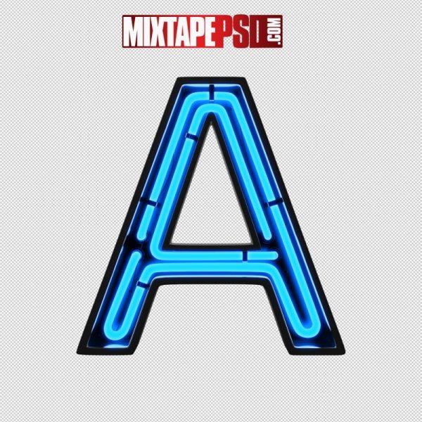 Neon Alphabet Letter A