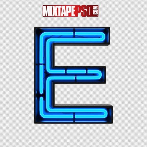 Neon Alphabet Letter E
