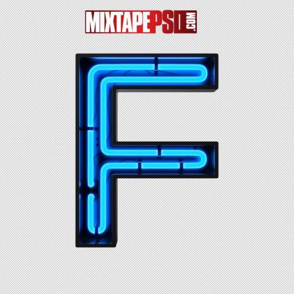 Neon Alphabet Letter F
