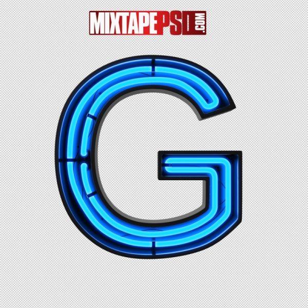 Neon Alphabet Letter G