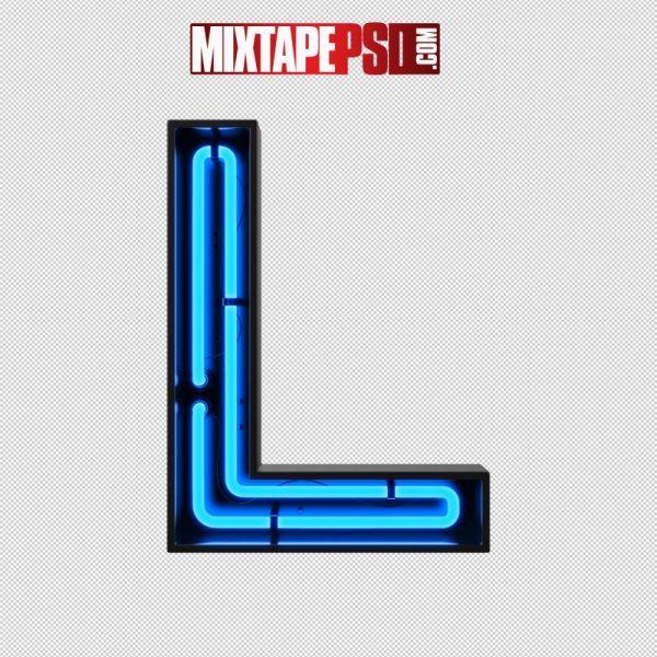 Neon Alphabet Letter L