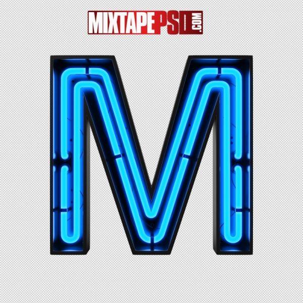 Neon Alphabet Letter M