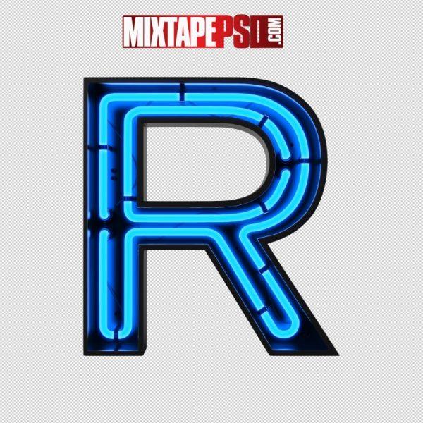 Neon Alphabet Letter R
