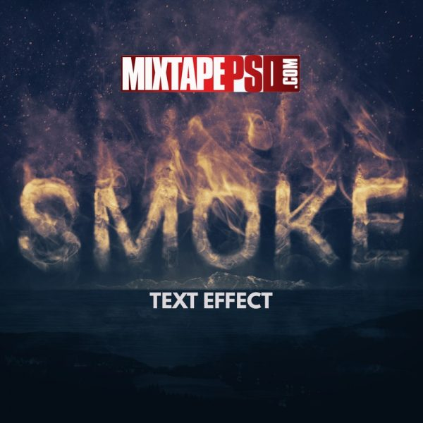 Smoke Text Effect Template