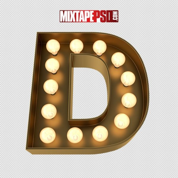 HD Marquee Sign Letter D