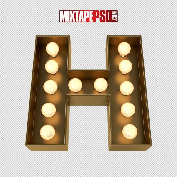 HD Marquee Sign Letter H