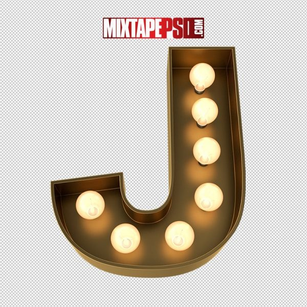 HD Marquee Sign Letter J