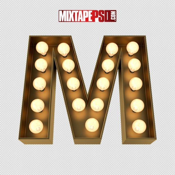 HD Marquee Sign Letter M