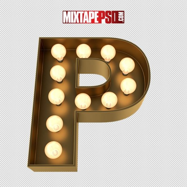 HD Marquee Sign Letter P