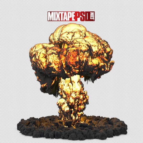 HD Mushroom Fire Cloud Explosion