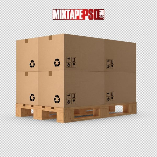 HD Pallet With Boxes