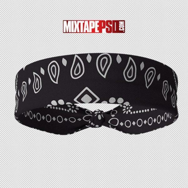 HD Black Headband Bandana