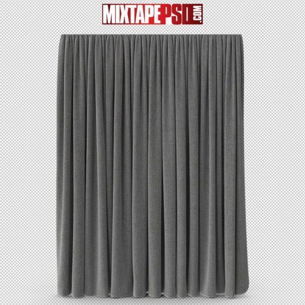 HD Full Grey Curtain