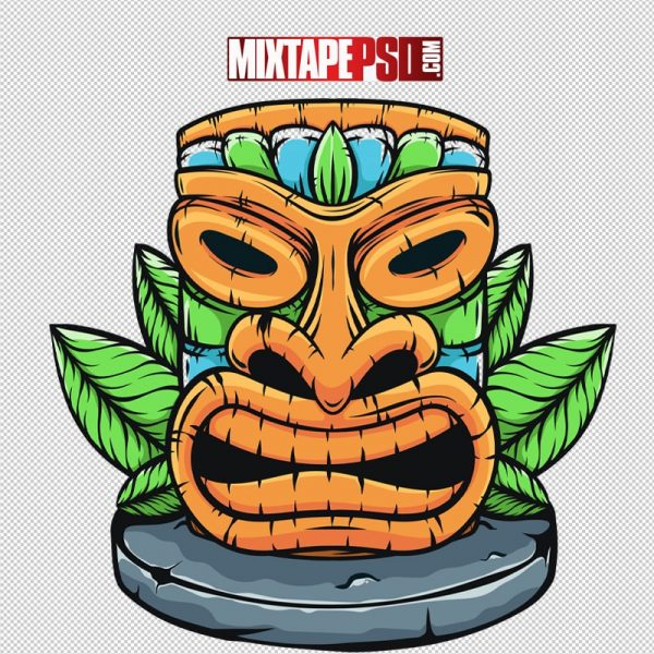 HD Hawaiian Cartoon Totem