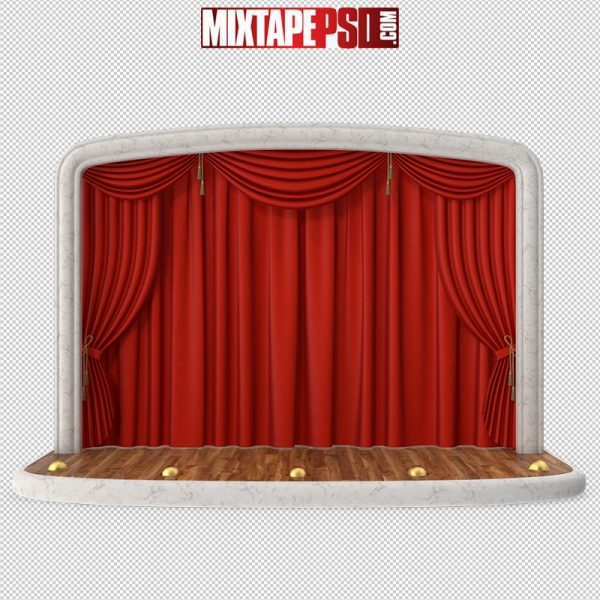 HD Red Stage Curtain