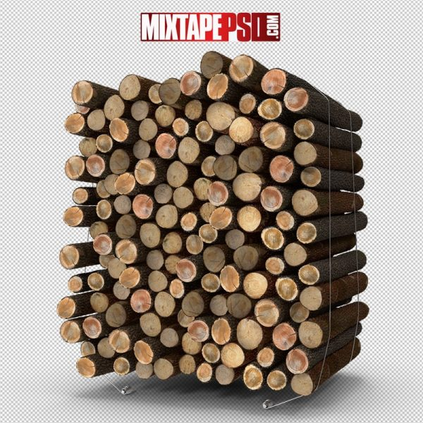 HD Pile of Small Wood Logs