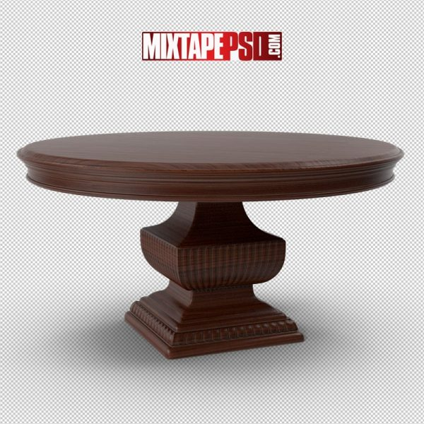 HD Wood Round Table