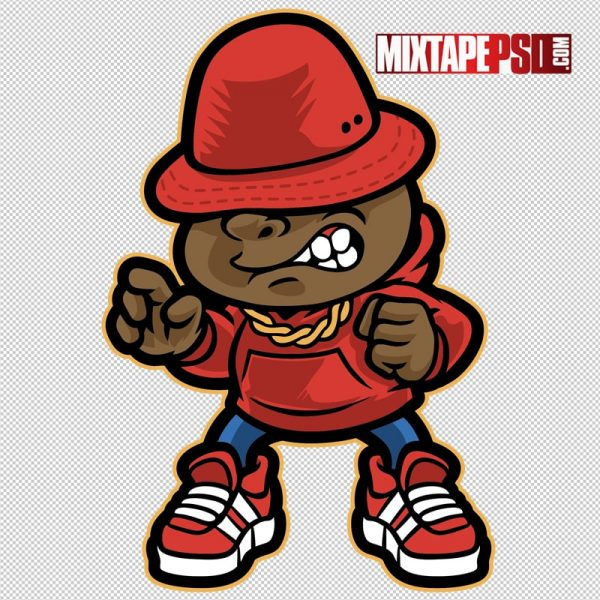 Hip Hop Vector Cartoon Artist