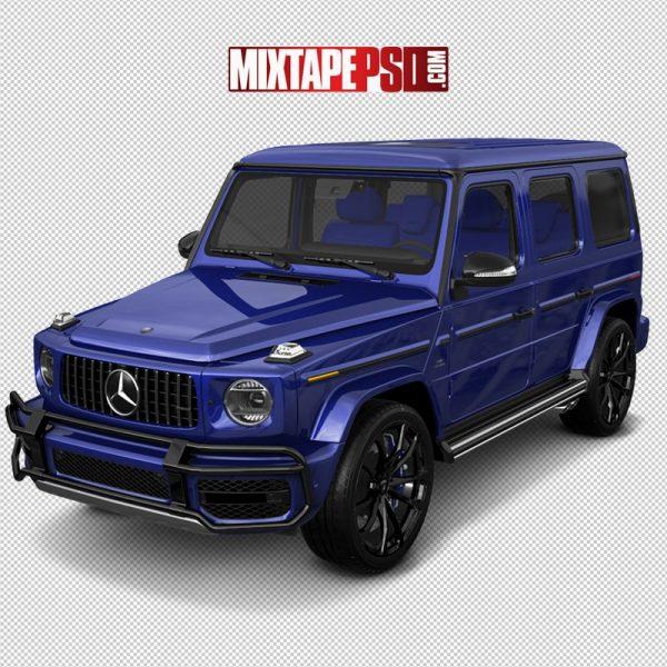 BLUE MERCEDES SUV