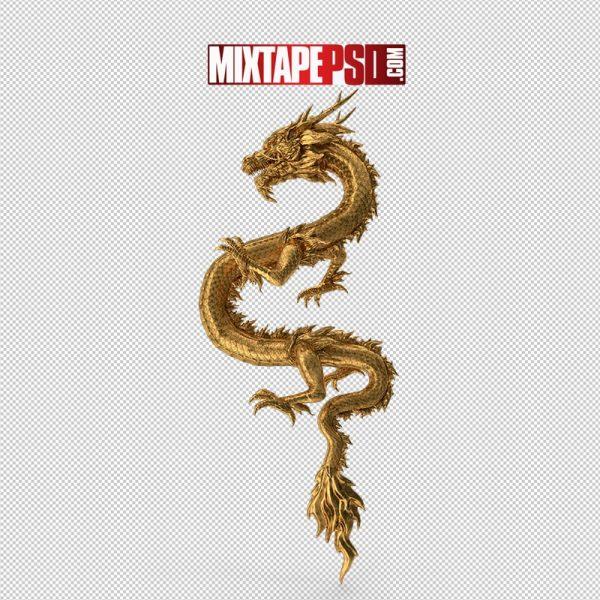 HD Golden Chinese Dragon Zodiac Sign