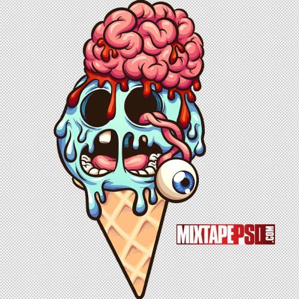 Vector Cartoon Zombie Ice Cream