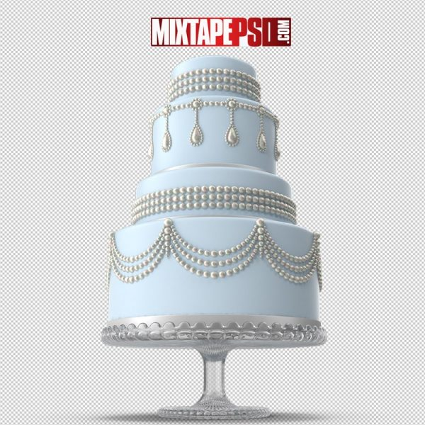 HD Light Blue Wedding Cake
