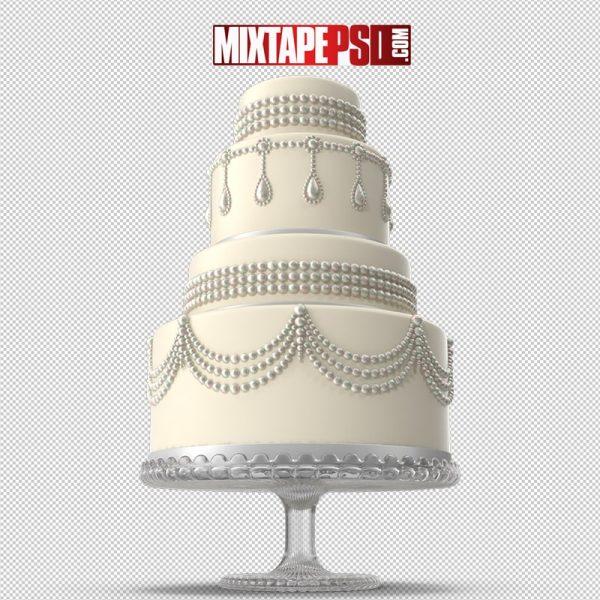 HD White Cascade Wedding Cake