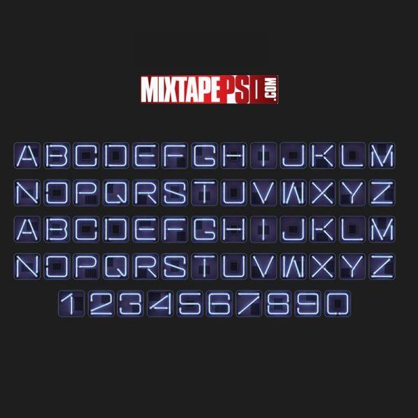 Square Neon Font SVG