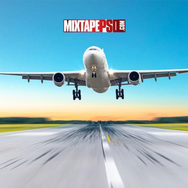 Plane Taking Off Runway Background