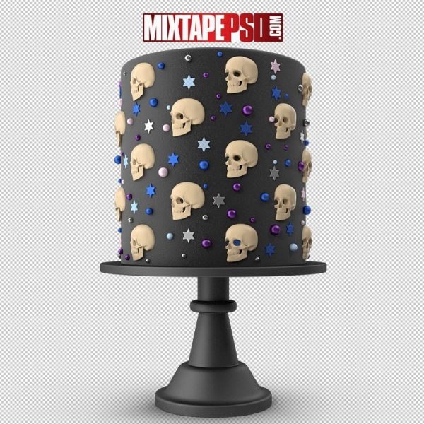 HD Halloween Cake with Skulls